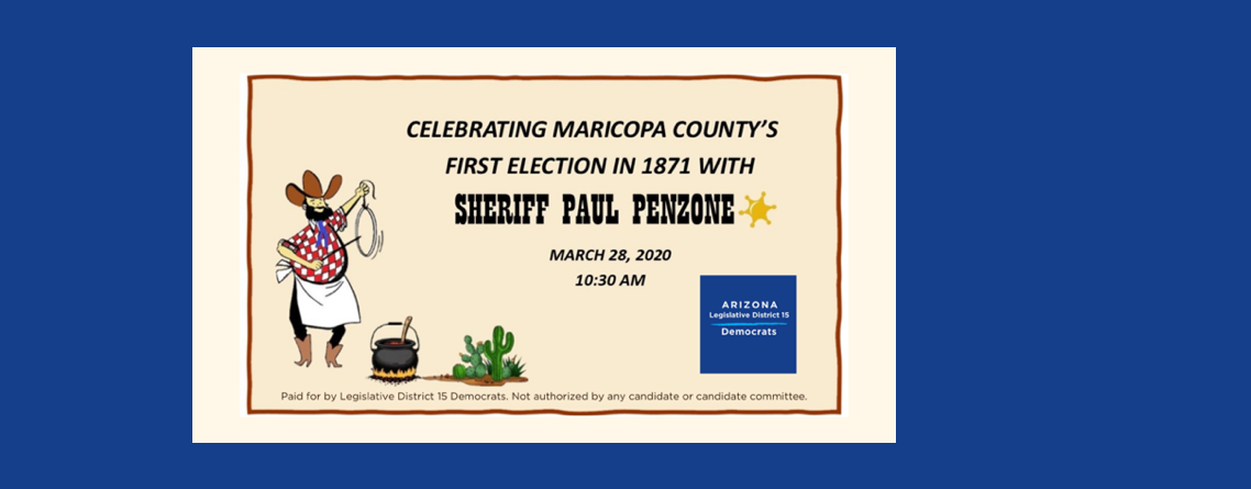 Fundraiser and Lunch With Special Guest Sheriff Penzone!