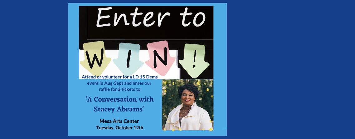 """Enter to Win! """"A Conversation with Stacey Abrams"""""""