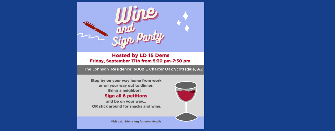 Join Us for the Wine & Sign Party!