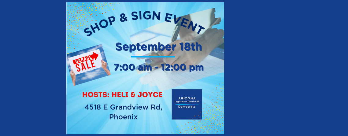 Shop and Sign Event